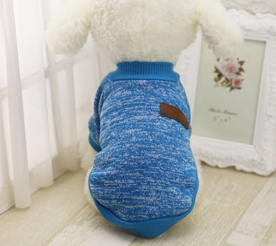 DoggyMarket Blue Cotton Dog Sweater