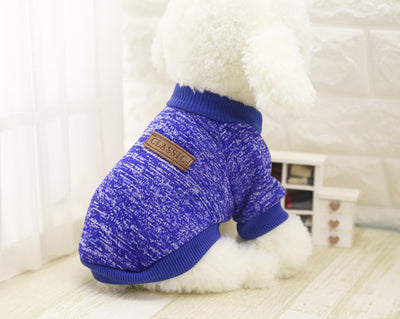 DoggyMarket Deep Blue Cotton Dog Sweater