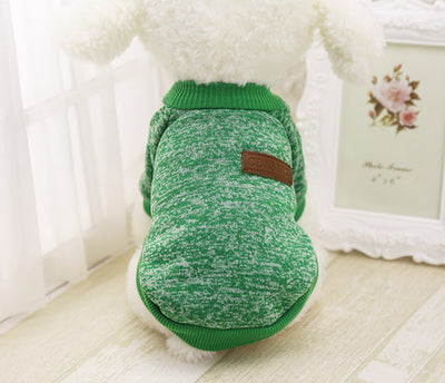 DoggyMarket Green Cotton Dog Sweater