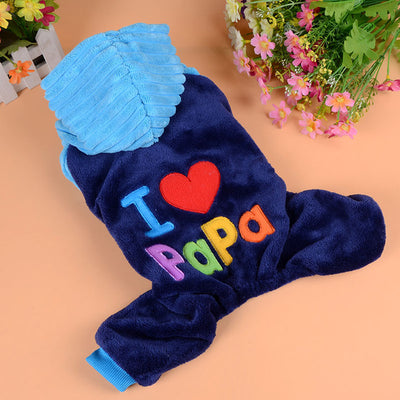 DoggyMarket I Love Papa Dog Hoodie Sweater
