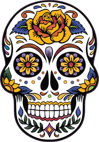 Mexican Sugar Skull Tattoo Design Calavera vinyl wall sticker decal 5 sizes