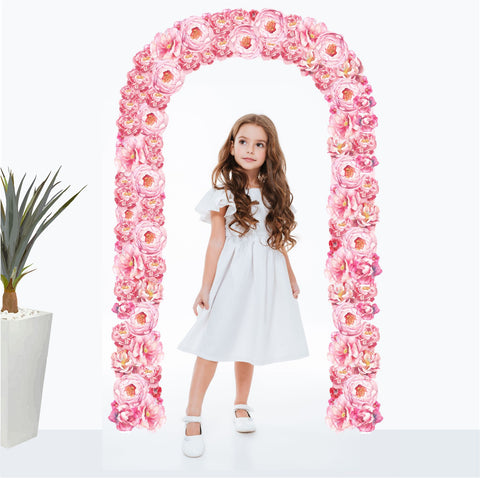 Flower Wall Sticker Peonies Archway decal