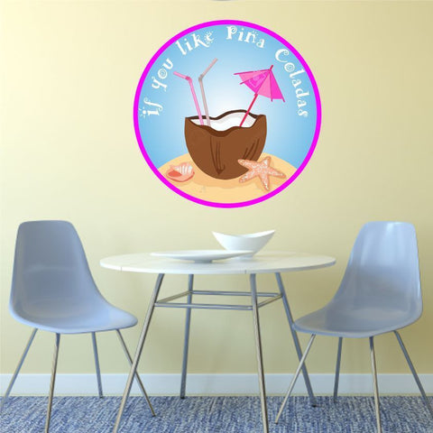 Pina Colada Cocktail Beach Kitchen Wall Car Sticker Decal Graphic various sizes