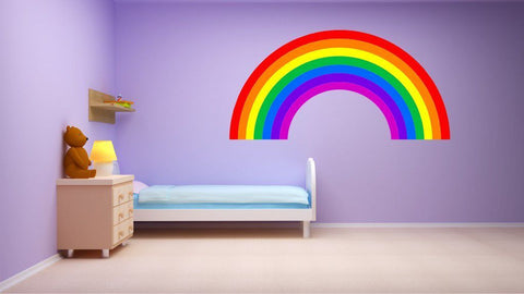Rainbow plain children's bedroom nursery decal wall/car art vinyl sticker 4 sizes