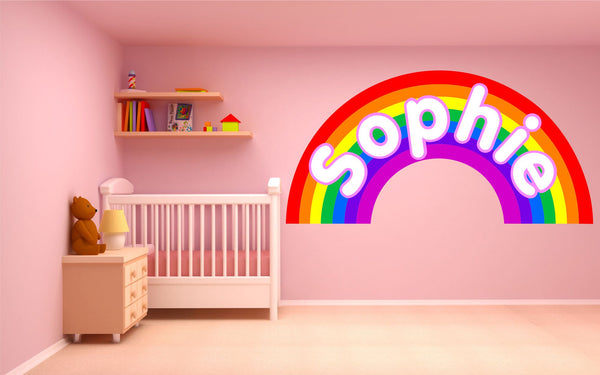 Personalised Rainbow wall sticker