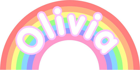 Personalised Pastel Rainbow wall sticker