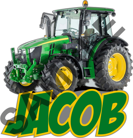 TRACTOR FARM PERSONALISED wall sticker