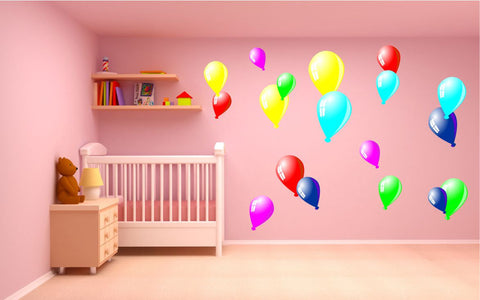 Balloons wall stickers kit
