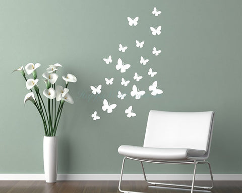 Butterfly wall stickers kit - all colours