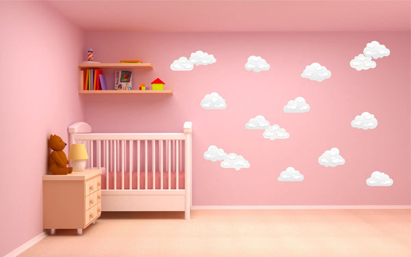 Clouds wall stickers kit - two size options