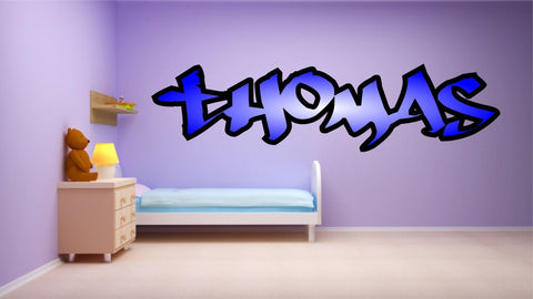 Graffiti style boys name - personalised with colour fade, Wall Art Sticker