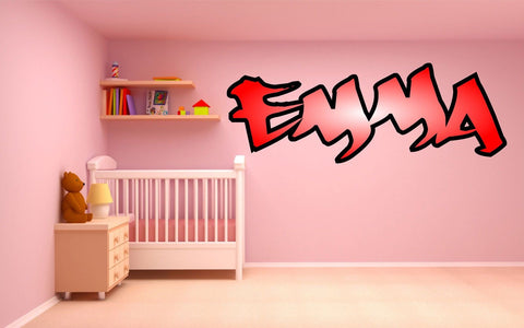 Graffiti style girls name - personalised with colour fade, Wall Art Sticker