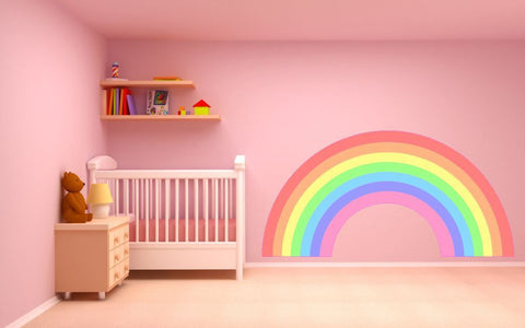 Pastel Rainbow plain children's bedroom nursery decal wall/car art vinyl sticker 4 sizes