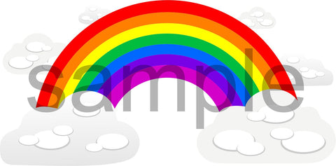 Rainbow and Clouds wall sticker