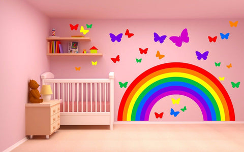 Rainbow Butterflies wall sticker