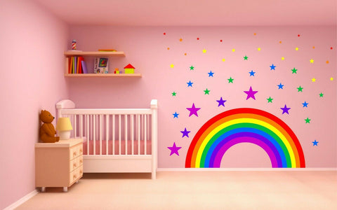 Rainbow Stars wall sticker