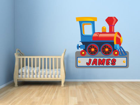 TRAIN PERSONALISED wall sticker
