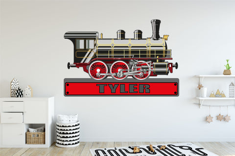 TRAIN ENGINE PERSONALISED wall sticker