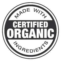 made with certified organic ingredients
