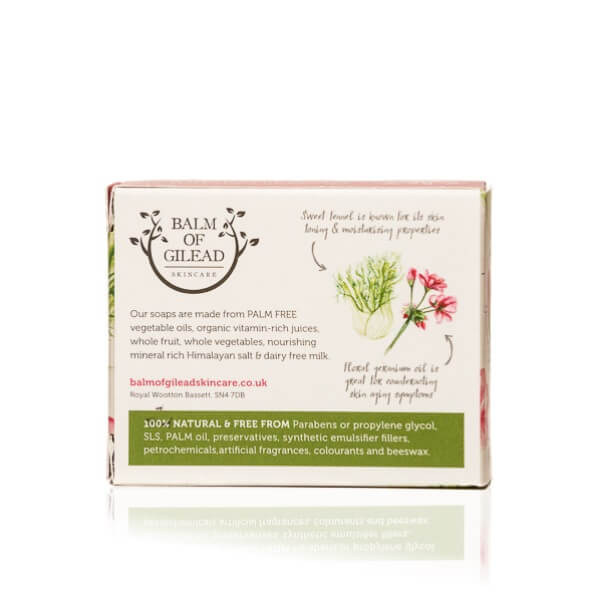 Balm of Gilead Skincare Sweet Fennel & Rose Geranium Soap