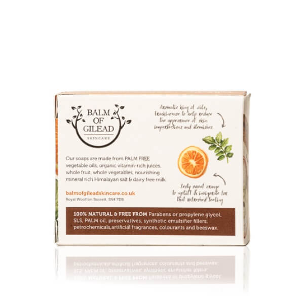 Balm of Gilead Skincare Orange, Cinnamon & Frankincense Organic Soap