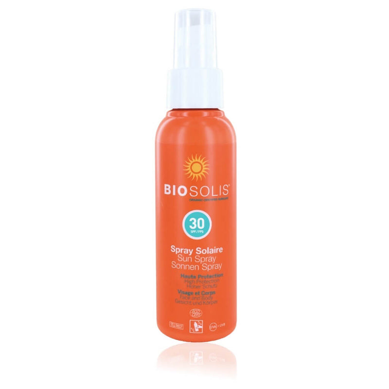 Biosolis Sun Spray 30 UVA UVB - Spray Solaire - 100% minéral & Naturel