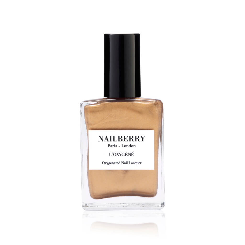 Nailberry l'Oxygéné Vernis à Ongles Gold Leaf Or Liquide