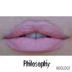 Axiology Rouge à Lèvres Rich Cream Swatch Philosophy - Rose doux froid