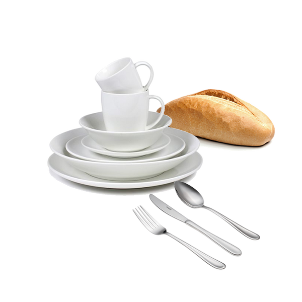 Plate, Cup & Cutlery