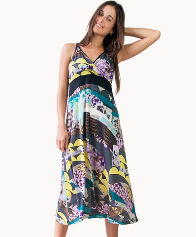 100% cotton sundress |Multi-coloured pattern - The Apparel Effect