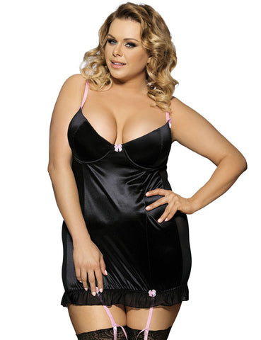 Plus Size Round Back Babydoll - The Apparel Effect
