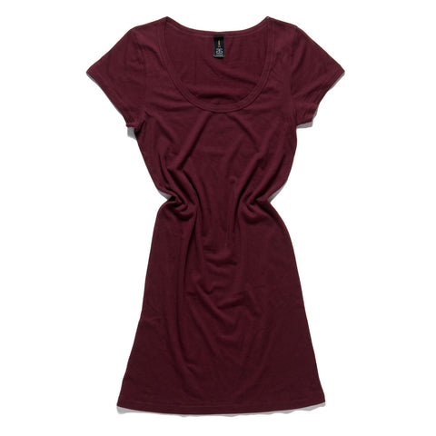 Burgundy tee dress |Sizes XS S M L XL - The Apparel Effect