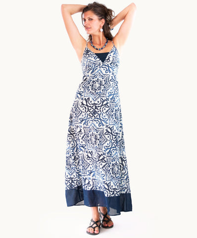 100% cotton maxi dress |Adjustable shoulder straps - The Apparel Effect