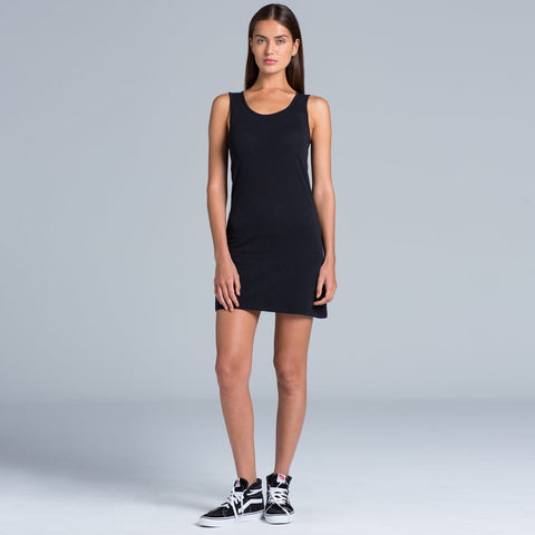 Classic singlet dress in black or white - The Apparel Effect