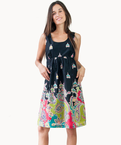 100% cotton exotic print dress with pockets - The Apparel Effect