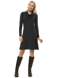 Knee length dress |Full sleeves |Cowl neckline |Sizes 8 to 22 - The Apparel Effect