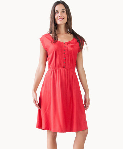 100% cotton Knee length chic dress - The Apparel Effect