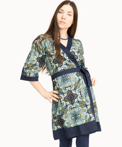 100% cotton wrap dress |V neck - The Apparel Effect