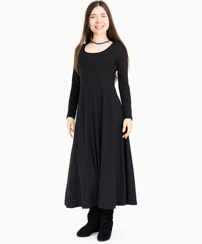 Long cotton dress |Black - The Apparel Effect