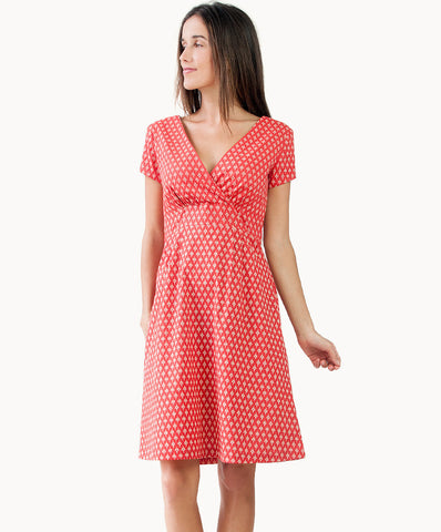 100% cotton short sleeved dress - The Apparel Effect