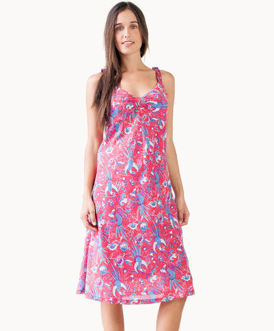 Beautiful print sleeveless summer dress - The Apparel Effect