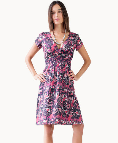 100% cotton shirred dress - The Apparel Effect