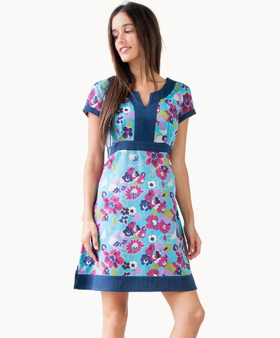 100% cotton tie back dress - The Apparel Effect