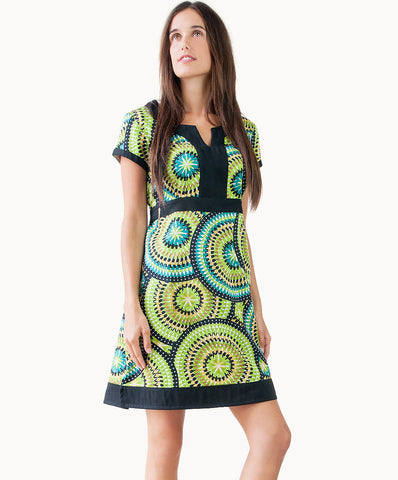 100% cotton mosaic tie-back dress - The Apparel Effect
