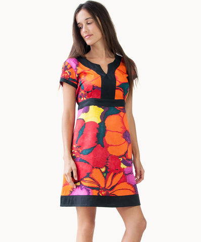 100% cotton tropical tie-back dress - The Apparel Effect