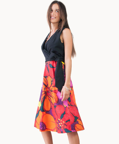 100%cotton floral print dress - The Apparel Effect