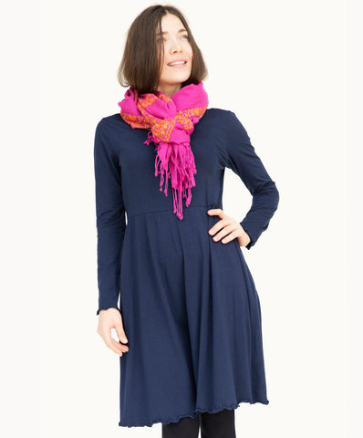 Ladies cotton dress |Navy blue - The Apparel Effect