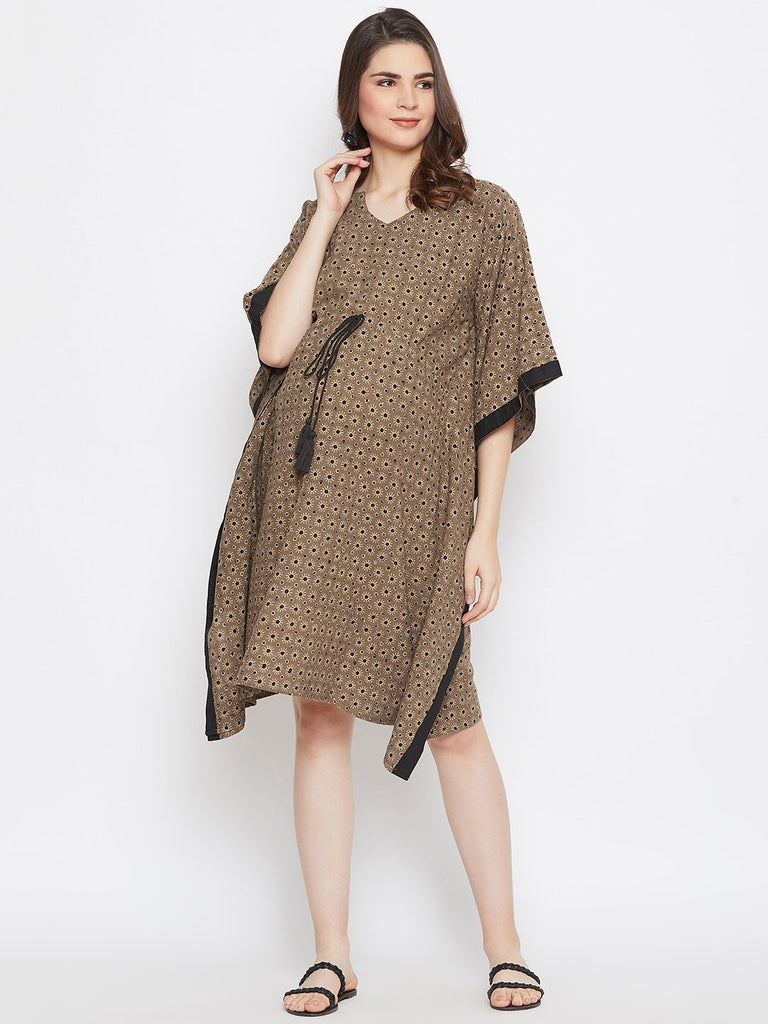 OLIVEN AJRAKH  MATERNITY KAFTAN DRESS