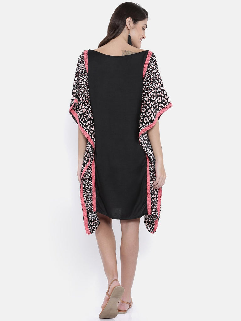 Women Black Printed Kaftan Dress