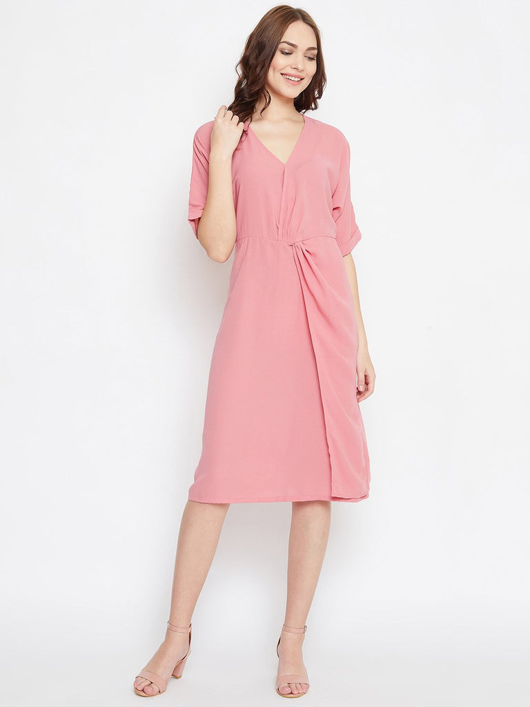 PINK SOLID WORKWEAR DRESS
